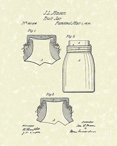 240x300 Mason Jars Drawings Fine Art America