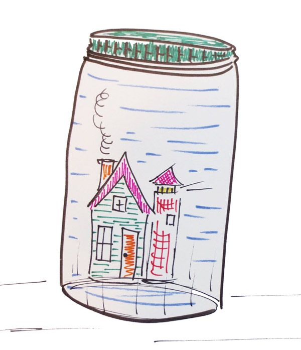 600x697 Students Will Make Drawings Of Large And Unexpected Items In Jars