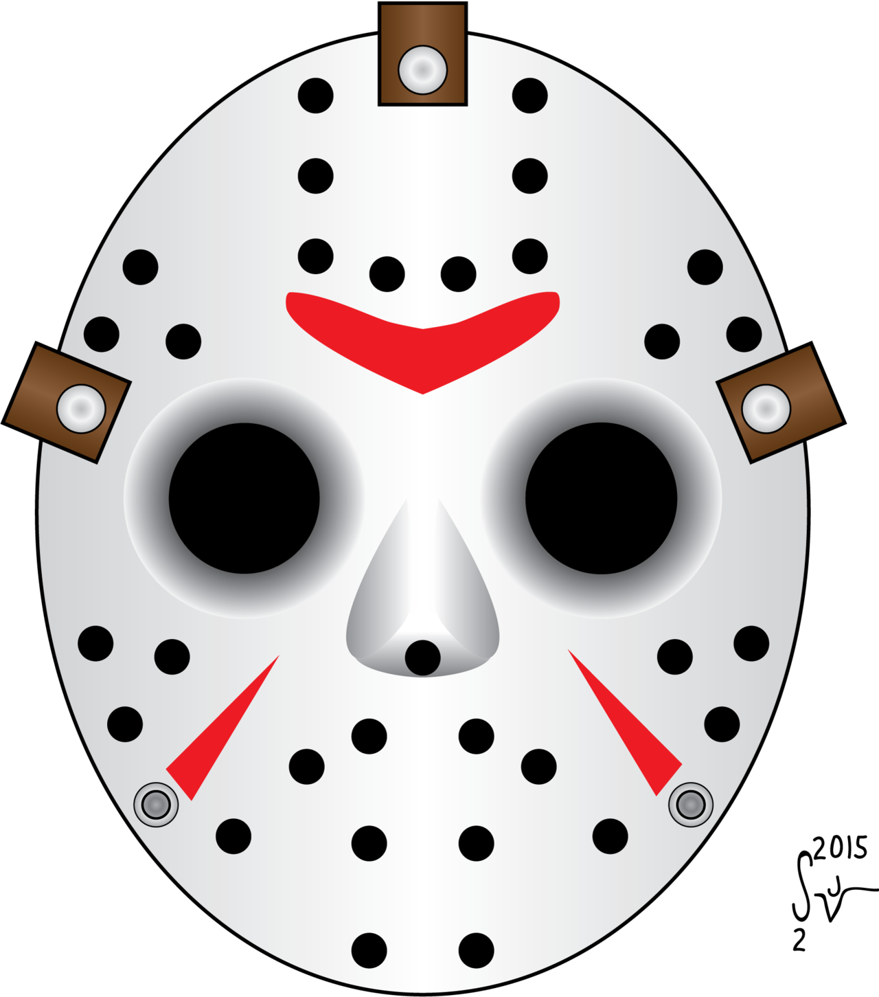 1280x1451 Friday The 13th, Jason Hockey Mask By Sjvernon