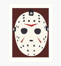 210x230 Jason Voorhees Mask Drawing Art Prints Redbubble