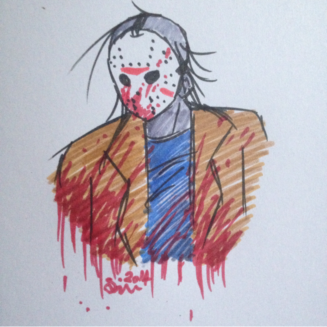 1360x1362 A Fabolous Drawing Of Jason Voorhees Cant Wait For His