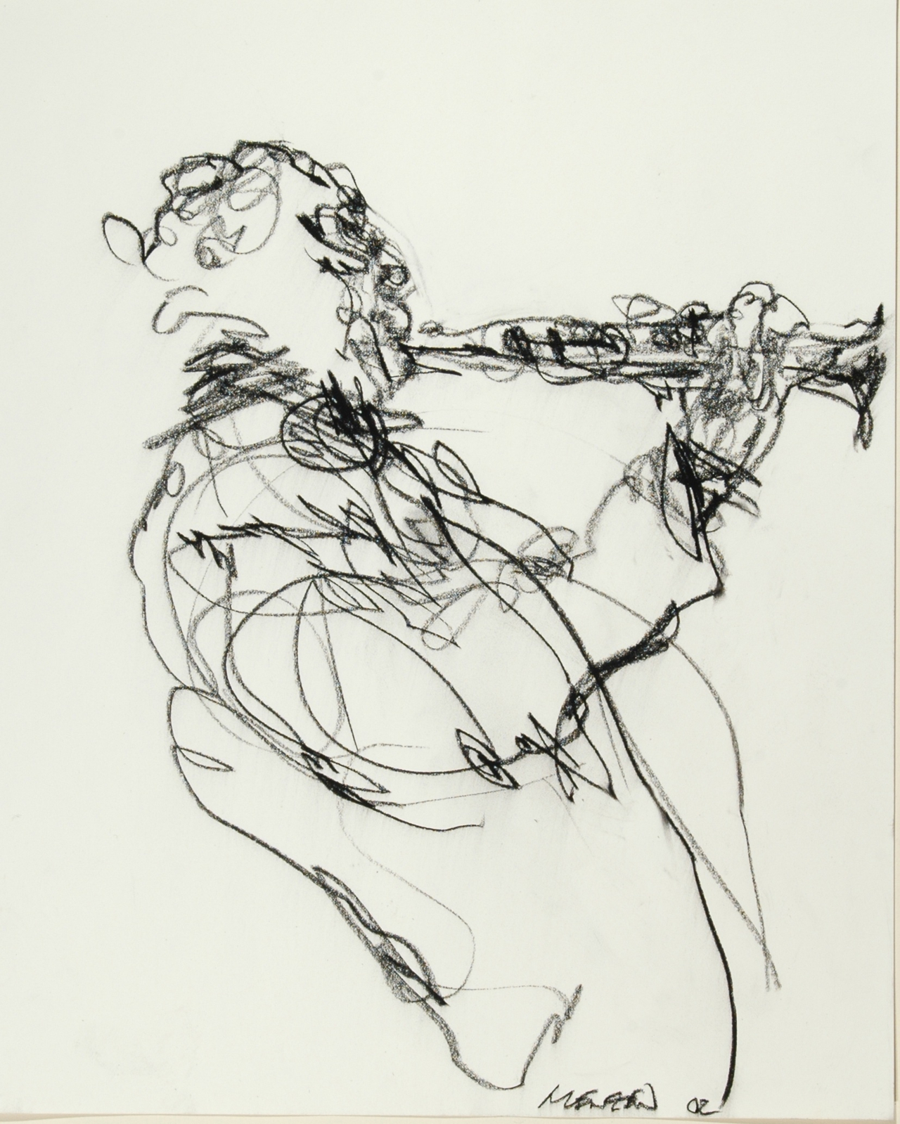 1280x1599 Clarinet Jazz Musician In The Subway, Nyc. By Gregory Muenzen My