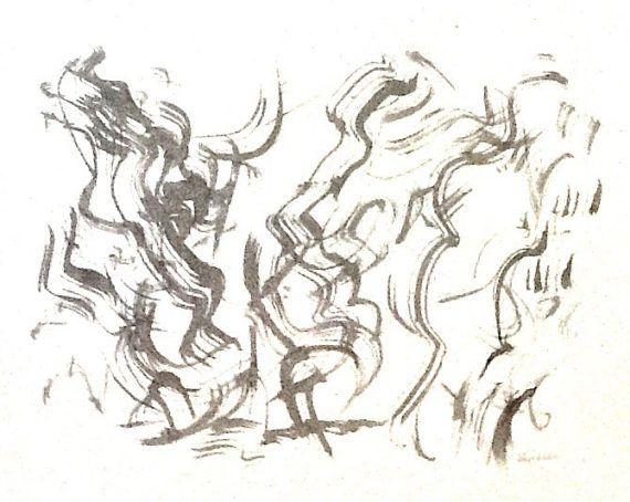 570x454 Jazz 5, Original Signed Drawing B124 (11 X 14) Jazz, Originals