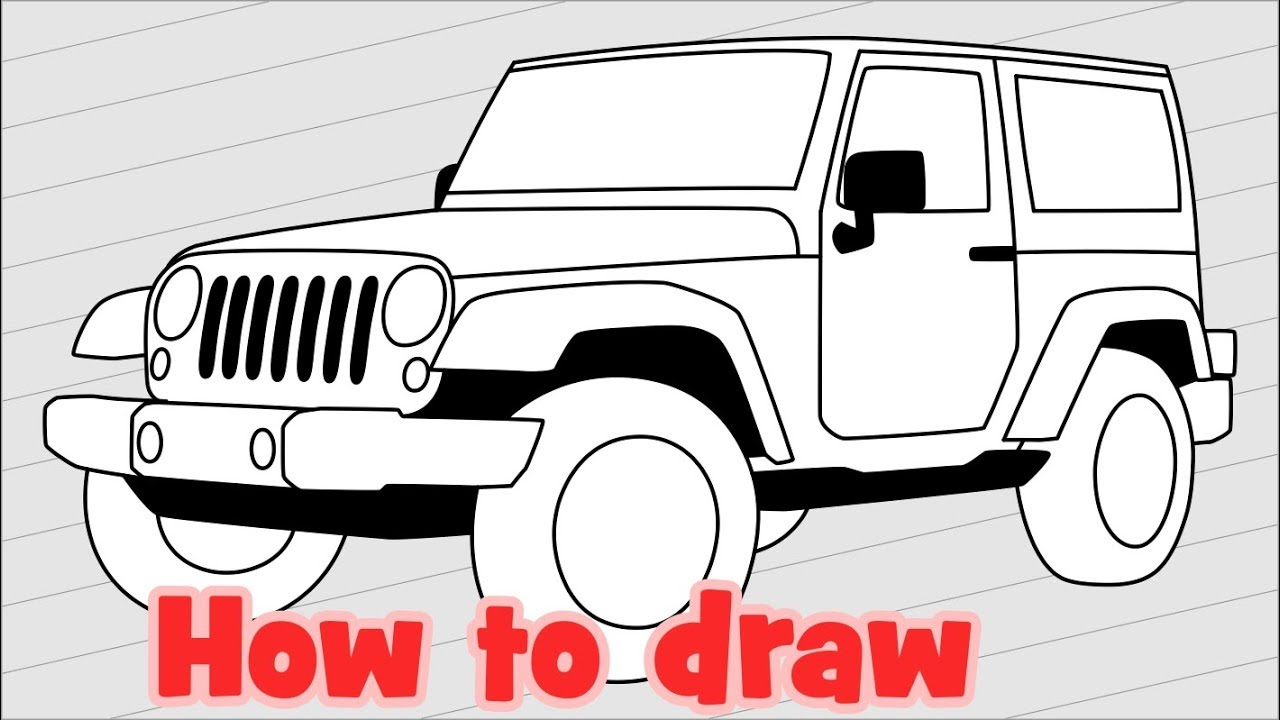Jeep Wrangler Drawing At Free For Personal Use Wiring Diagrams 1999 Tj Sahara 1280x720 How To Draw Jk 4 Door