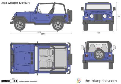 400x279 Jeep Wrangler Tj Vector Drawing