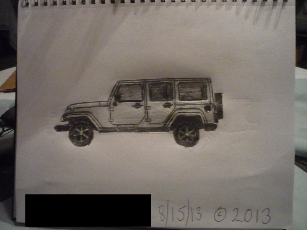 1024x768 Sketch Of 2013 Jeep Wrangler Unlimited Sahara By Masterpeace23
