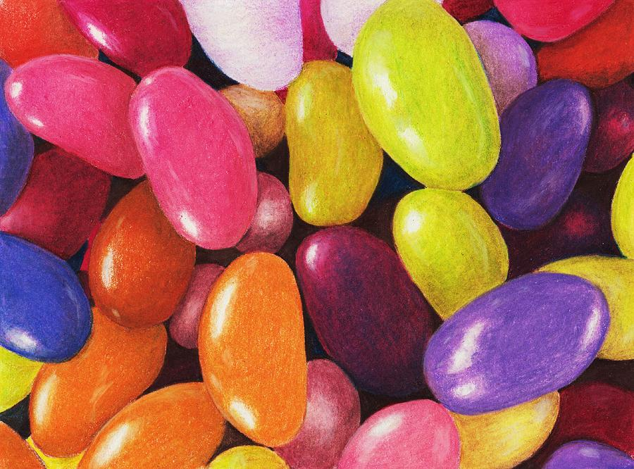 900x666 Jelly Beans Painting By Anastasiya Malakhova