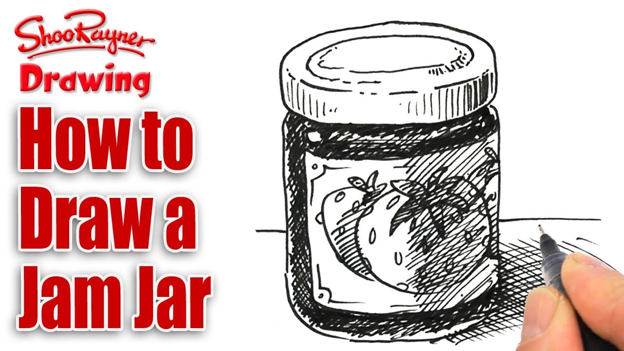 1280x720 How To Draw A Jam Jar