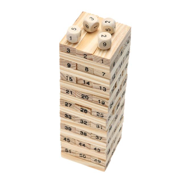 640x640 Wooden Tower Wood Toy Domino Stacker Extract Figure Blocks Jenga