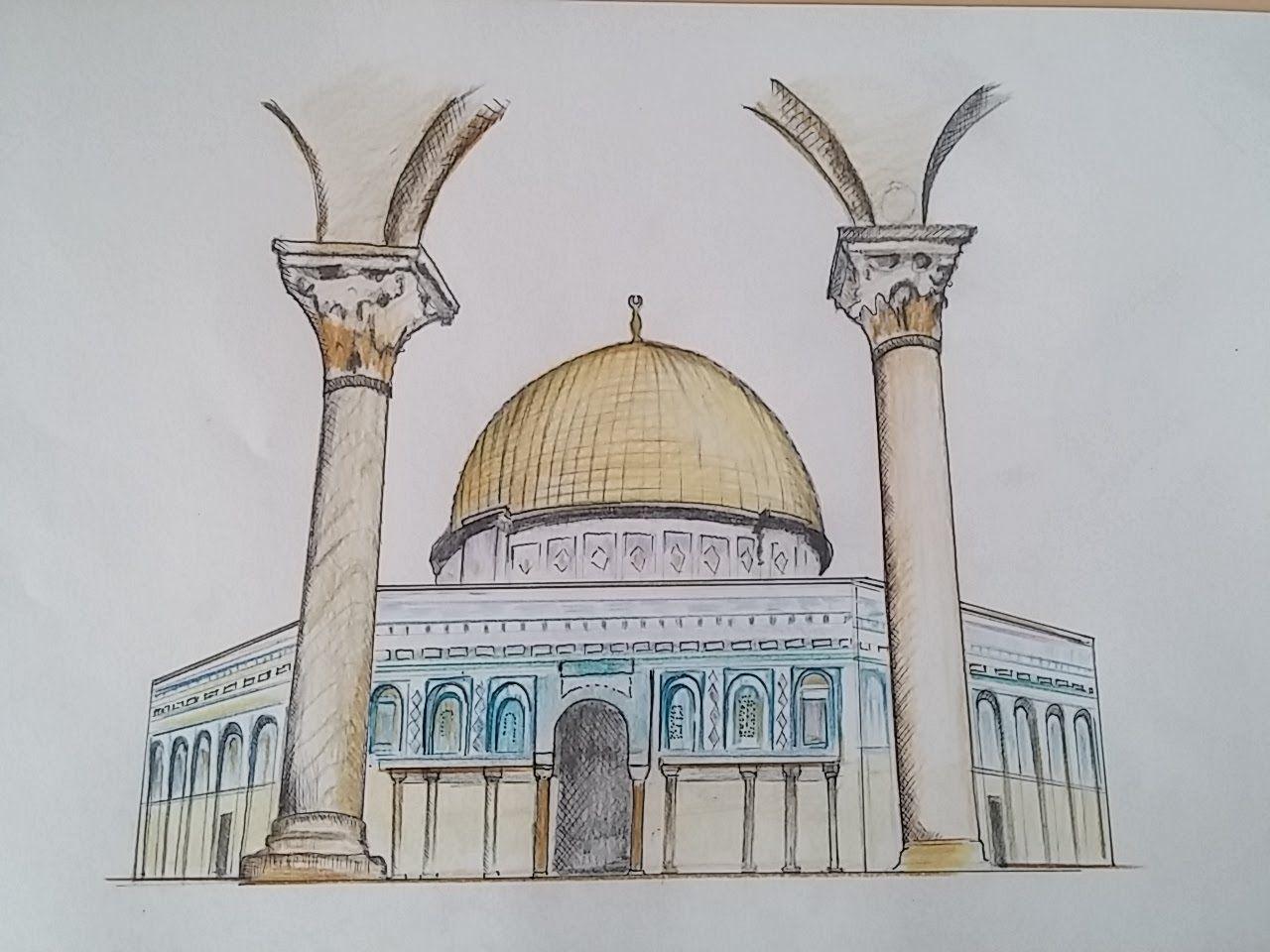 1280x960 How To Draw Kubbet As Sakhrakubbet Sahra