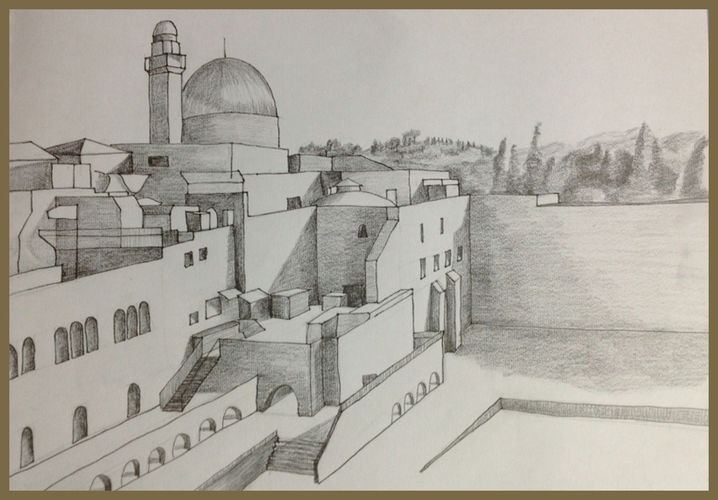 1024x714 Jerusalem Black And White From Me To Paper