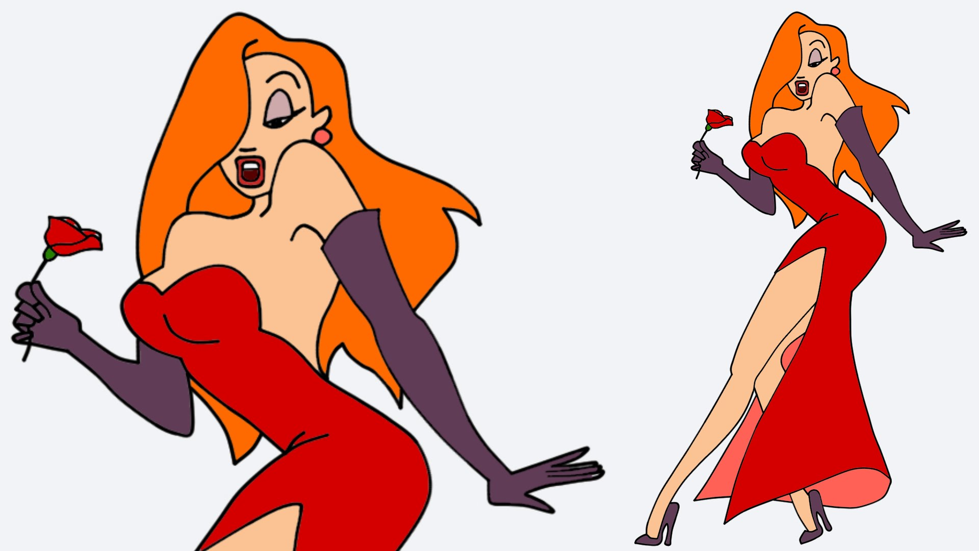 1920x1080 Jessica Rabbit Drawing