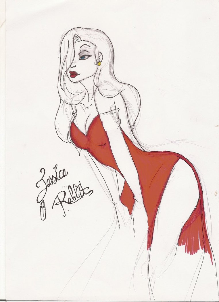 762x1048 Jessica Rabbit Sketch By Holicdraw34