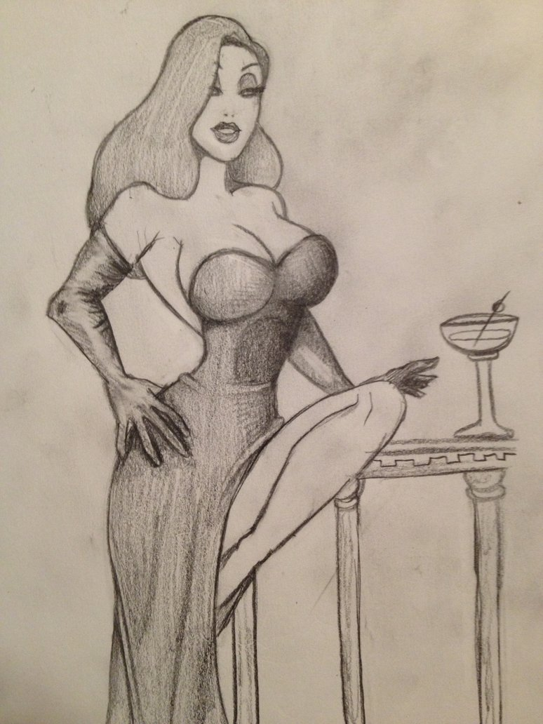 774x1032 Jessica Rabbit Sketch By Medusa1893