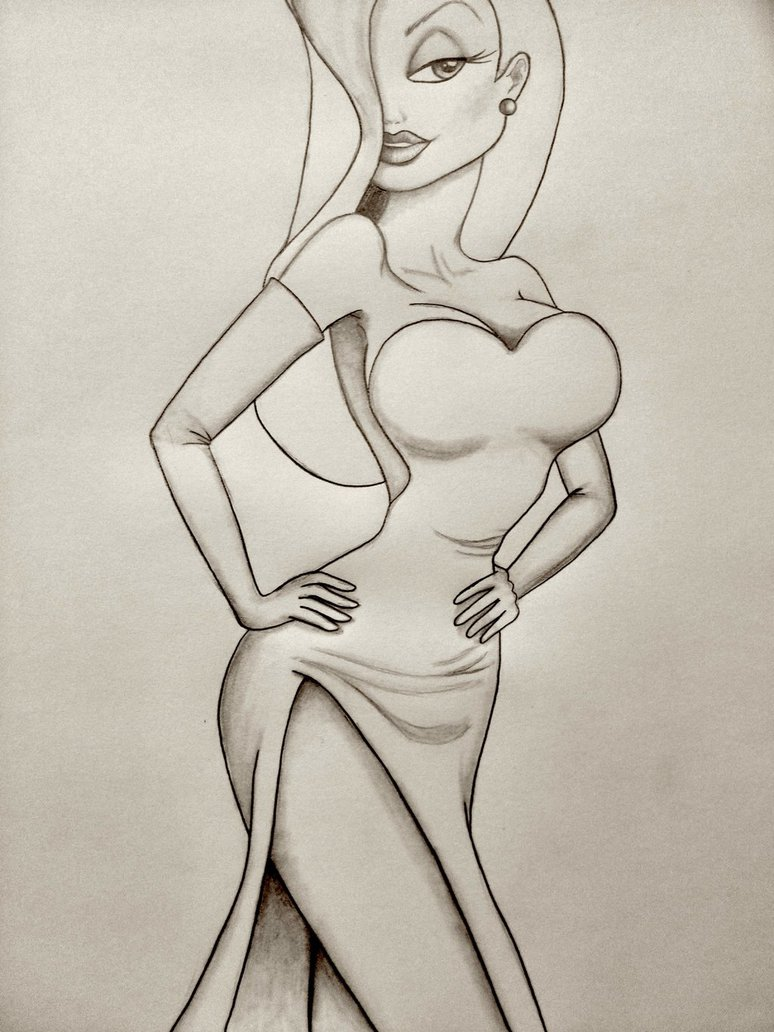 774x1032 Jessica Rabbit Sketch By Wiegand90