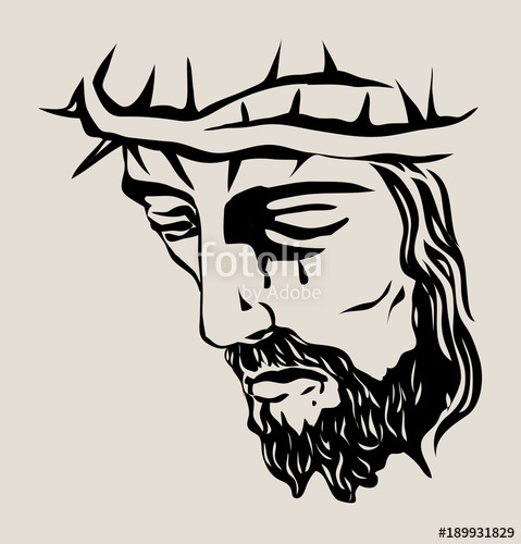 Line Drawing Of Jesus Face : Jesus art drawing at getdrawings free for personal