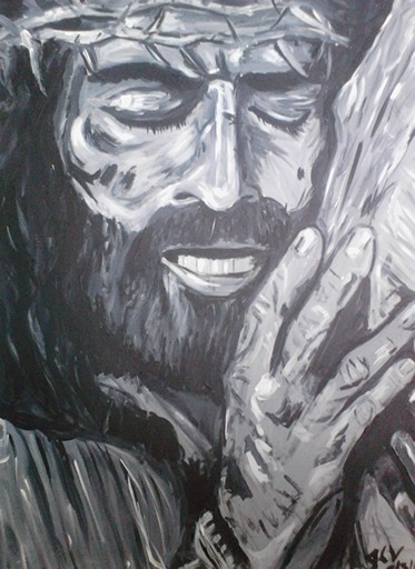 373x512 Jesus Carrying The Cross Painting Done By Jodi Villanella