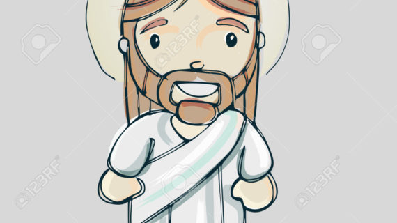 570x320 Cartoon Drawing Of Jesus Hand Drawn Vector Illustration Or Drawing