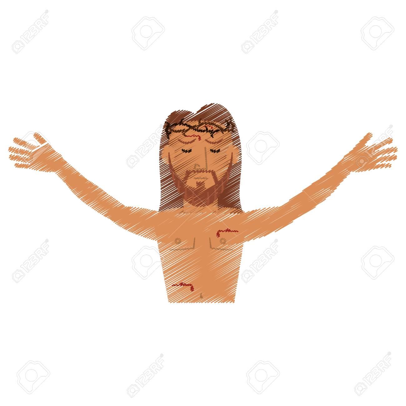 1300x1300 Drawing Jesus Christ Resurrection Design Vector Illustration