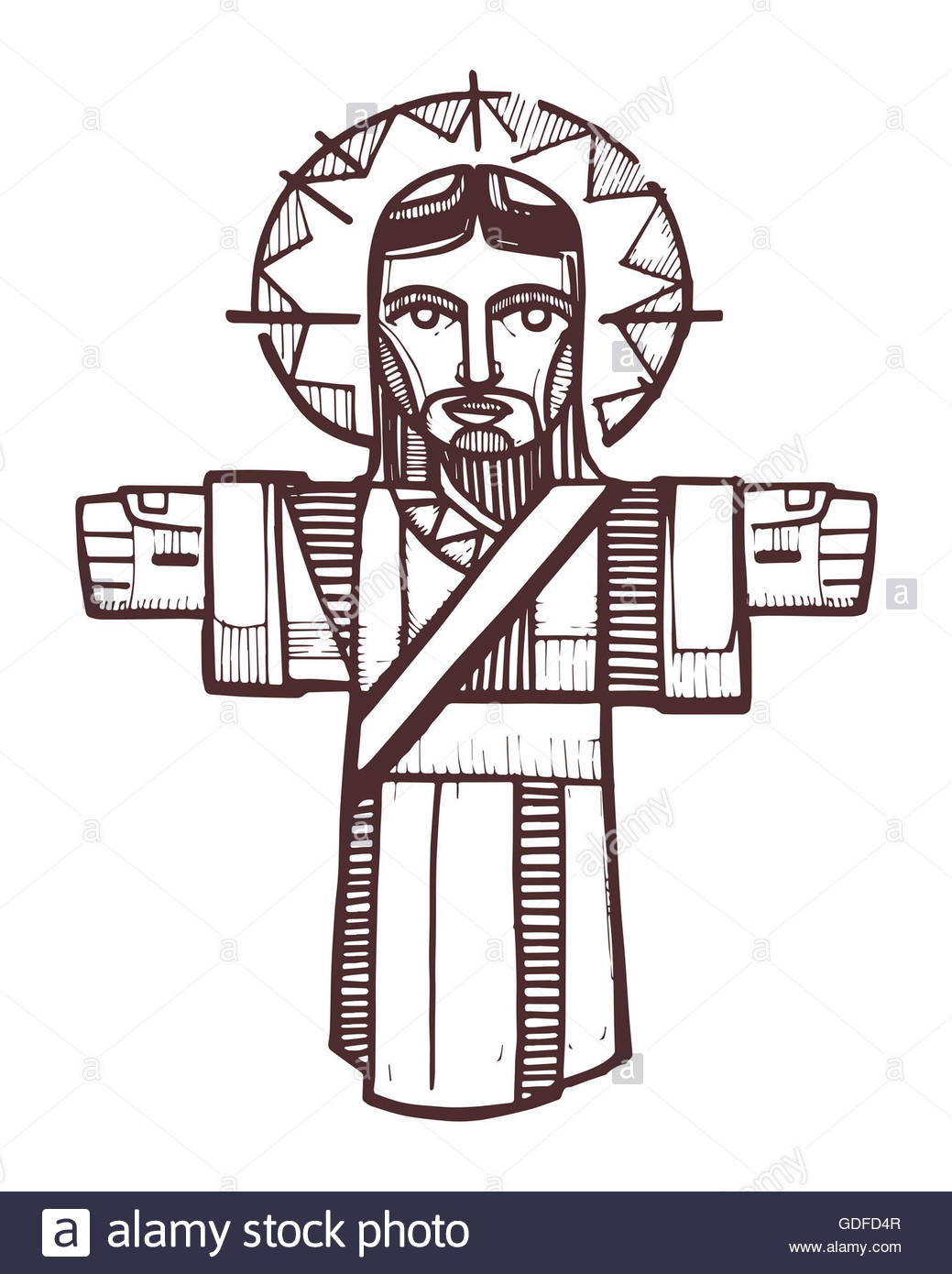 1039x1390 Hand Drawn Vector Illustration Or Drawing Of Jesus Christ