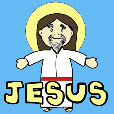 400x400 How To Draw Cartoon Jesus Christ For Easter Step By Step Drawing