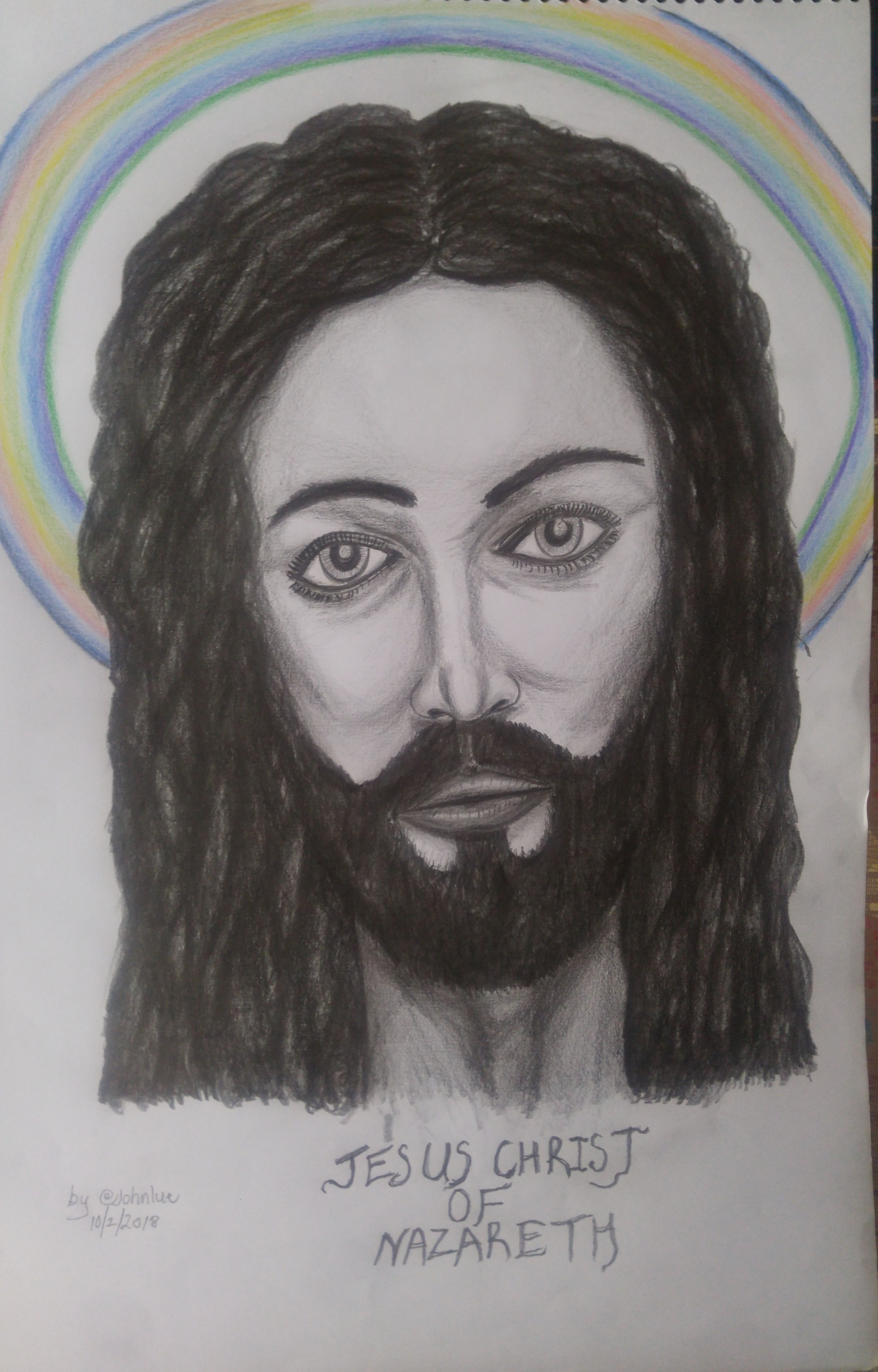 2984x4661 Drawing Tutorial Of Jesus Christ Of Nazareth The Lamb Of God Steemkr