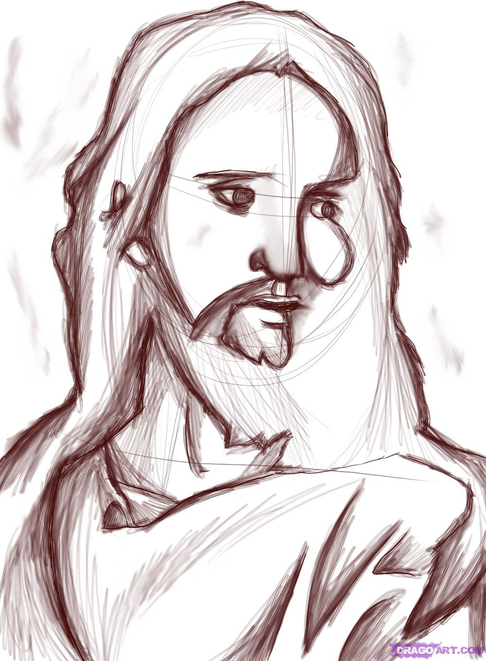 1000x1361 Pencil Shading Drawings Jesus Christ Pencil Shading Drawings