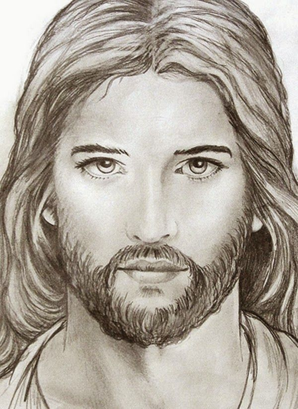 Jesus Christ Face Drawing At GetDrawings.com | Free For Personal Use Jesus Christ Face Drawing ...