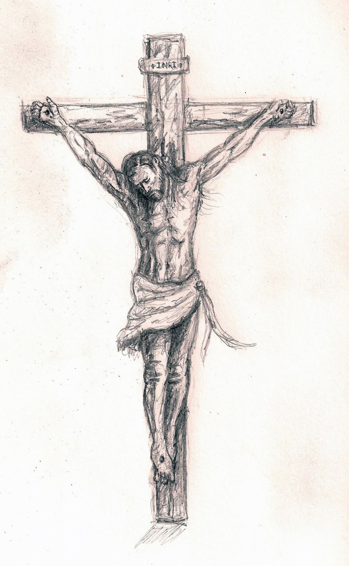 1182x1916 Jesus On The Cross Drawing Real Jesus Cross Pencil Sketch Jesus
