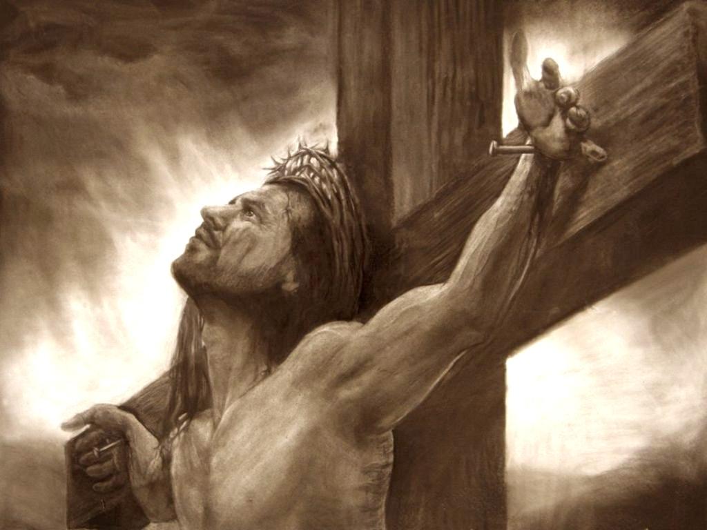 1024x768 Pencil Drawings Of Jesus On The Cross Wallpaper Wallpaper Drafting