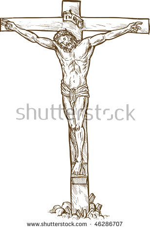 308x470 Pictures Jesus Christ On The Cross Sketch,