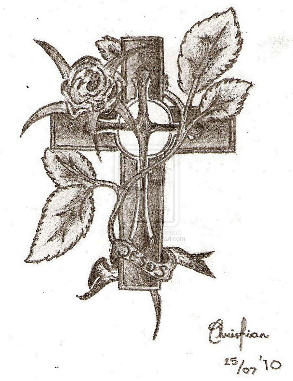 900x1170 Jesus Cross Drawings