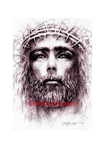 357x500 Jesus With Crown Of Thorns Pencil Sketch Print