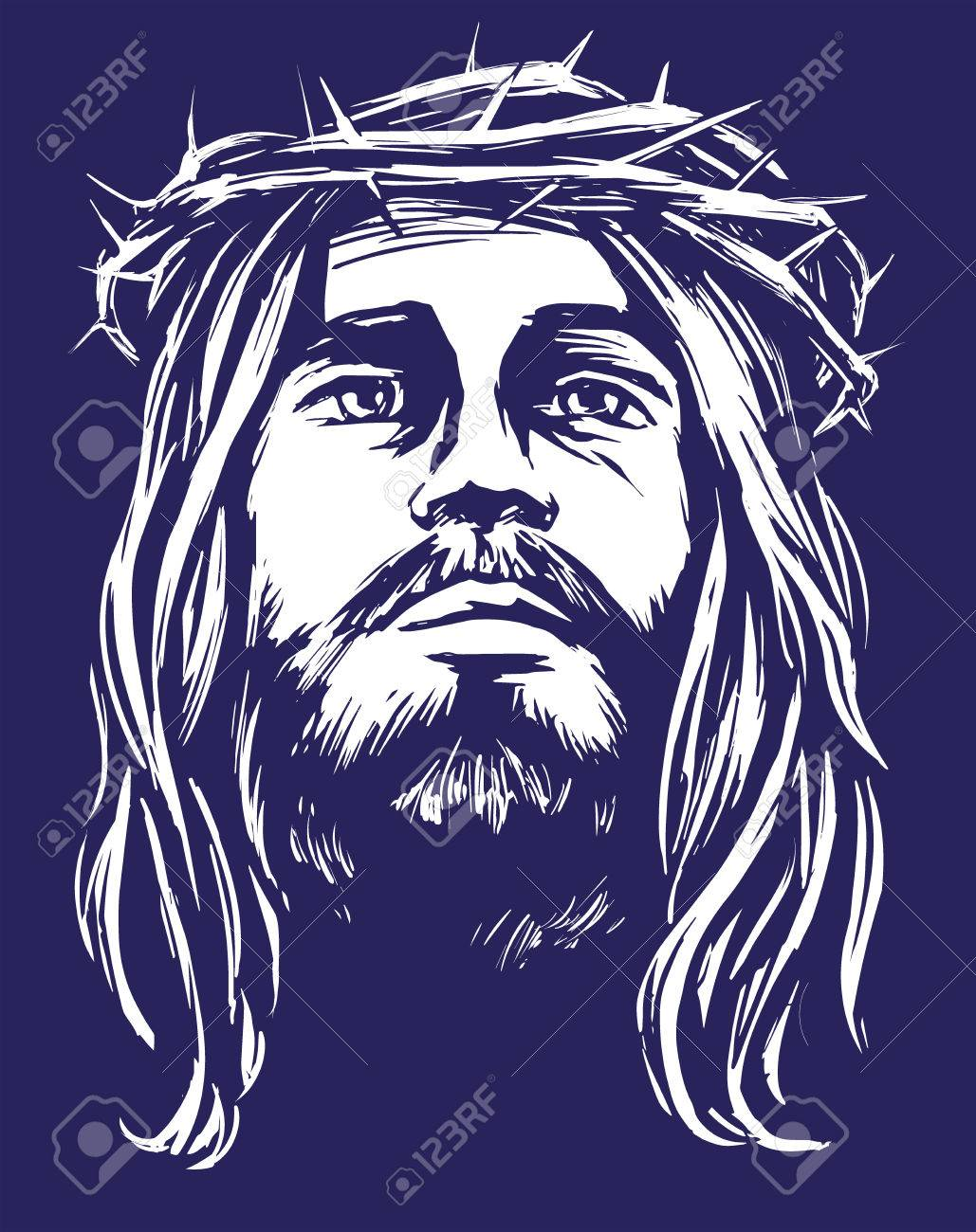 1029x1300 Jesus Christ, The Son Of God In A Crown Of Thorns On His Head