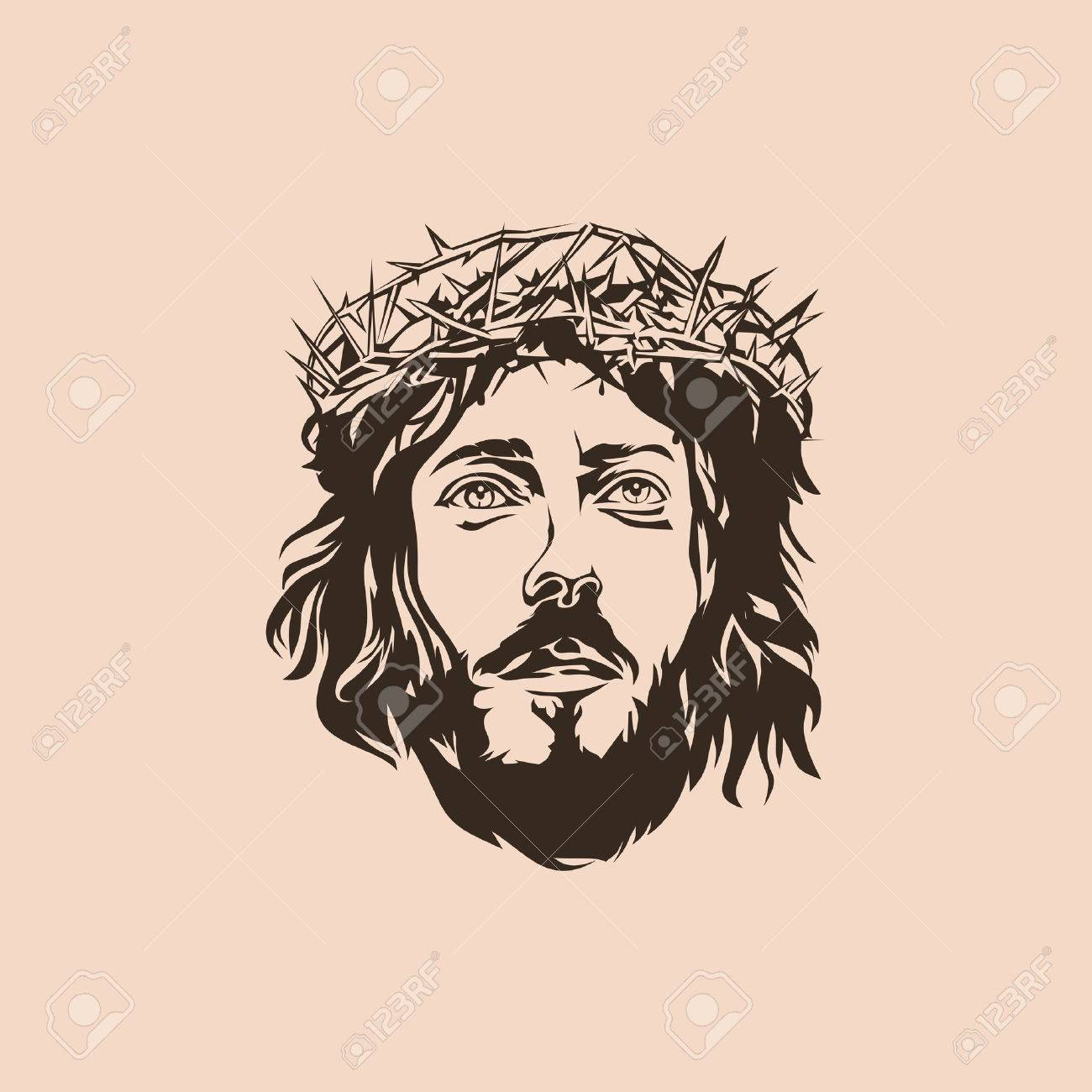 1300x1300 Jesus. Crown Of Thorns. Hand Drawn. Royalty Free Cliparts, Vectors