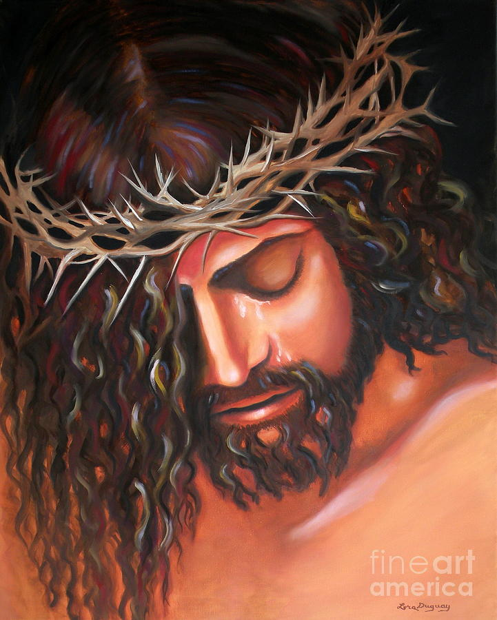 721x900 Tears From The Crown Of Thorns Painting By Lora Duguay