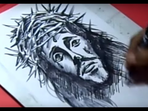480x360 How To Jesus Christ Drawing For Kids Step By Step