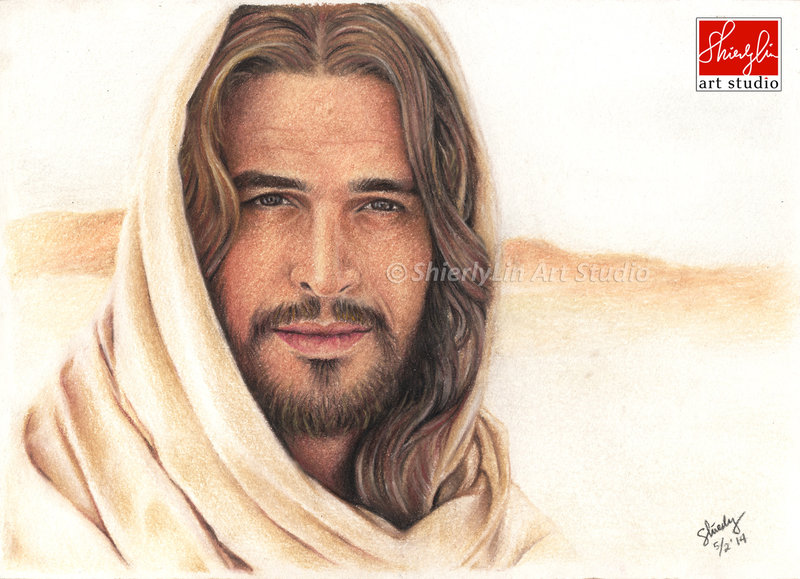 800x579 Portrait Drawing Of Diogo Morgado As Jesus By Shierly85
