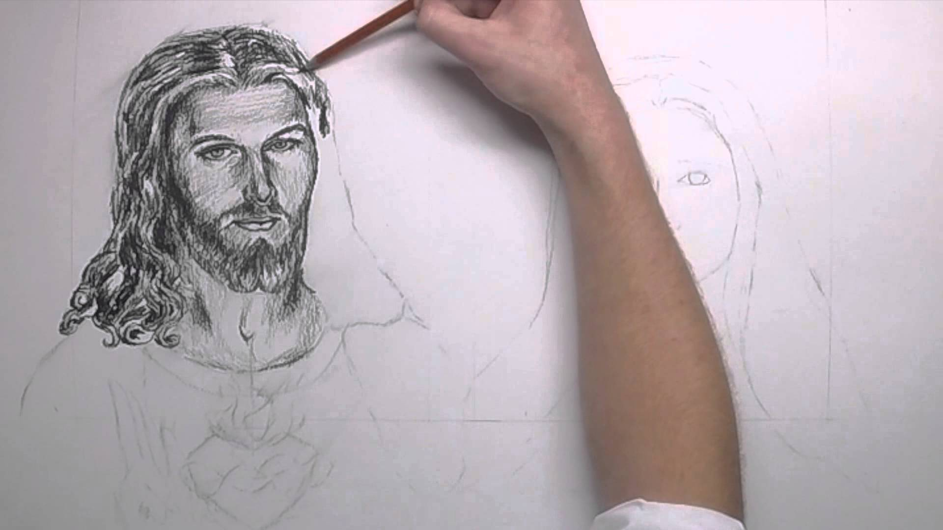 1920x1080 Speed Drawing Of The Most Sacred Heart Of Jesus And The Imaculate