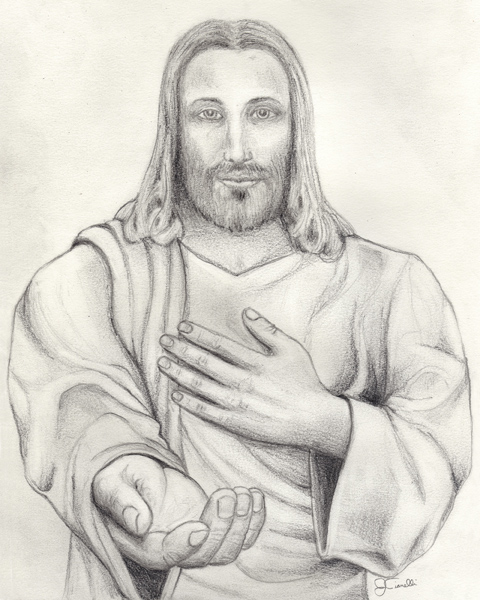 480x600 Pencil Drawing Of Jesus Archives