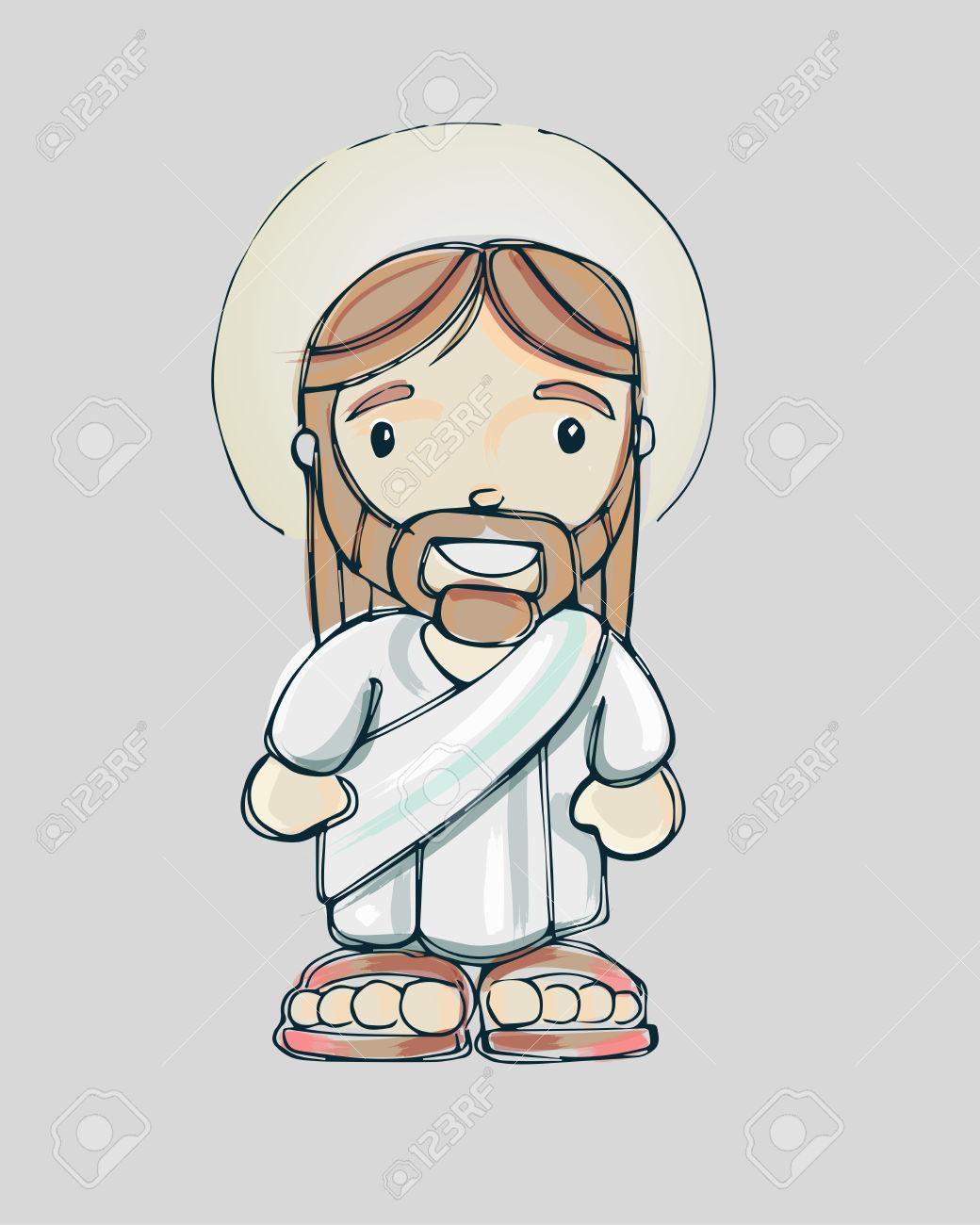 1040x1300 Cartoon Drawing Of Jesus