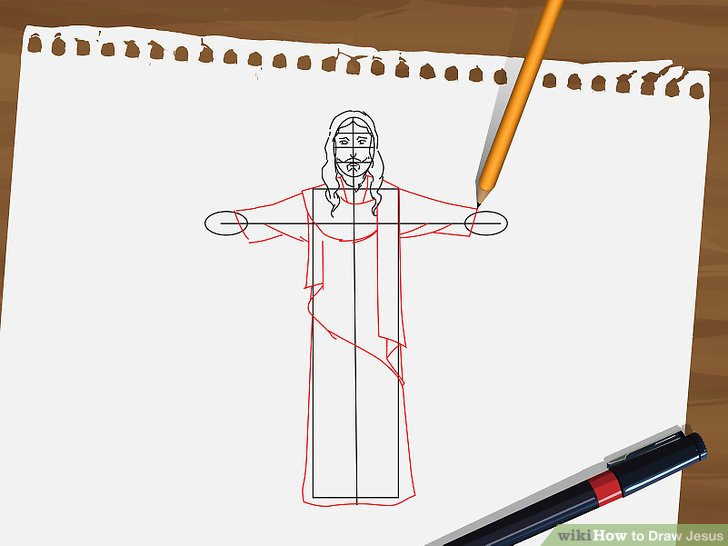 728x546 How To Draw Jesus 9 Steps (With Pictures)