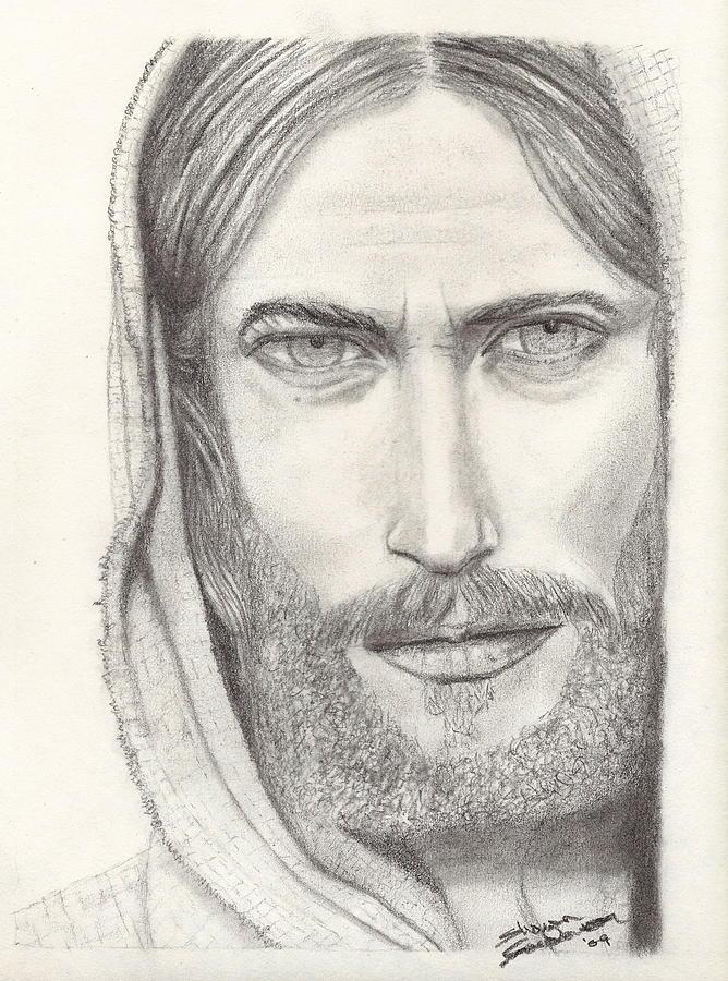 668x900 Jesus Of Nazareth Drawing By Shawn Sanderson