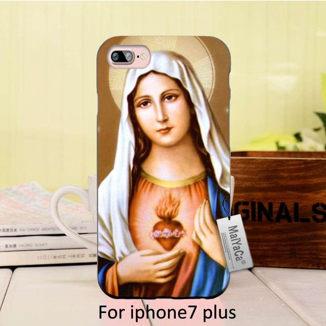 640x640 Maiyaca Bless Virgin Mary Baby Jesus Printing Drawing Phone Cover
