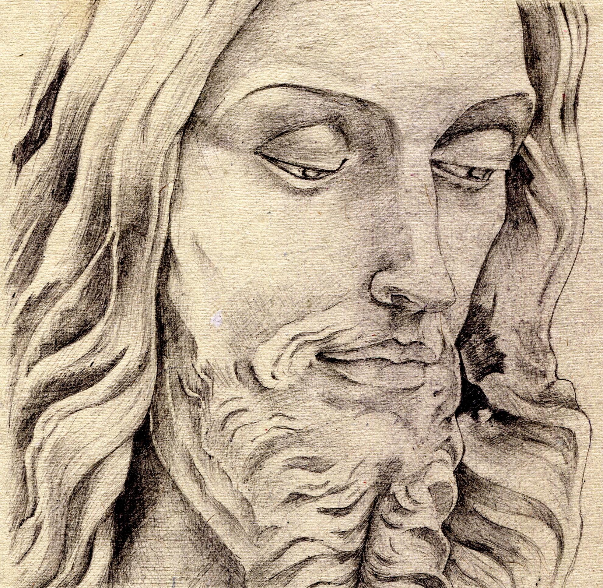 1981x1931 Pencil Drawings Of Jesus Jesus