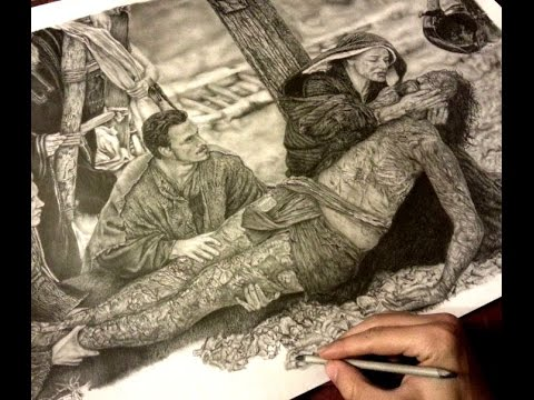 480x360 You Raise Me Up Pencil Drawing For Jesus From Passion
