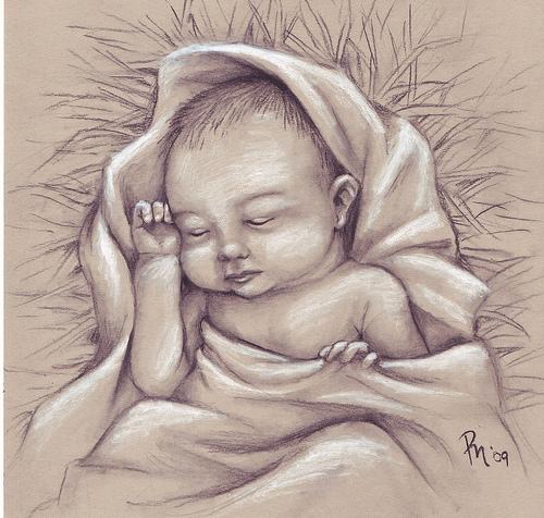 500x476 Drawing Of Baby Jesus Baby Jesus Dandy Drawings