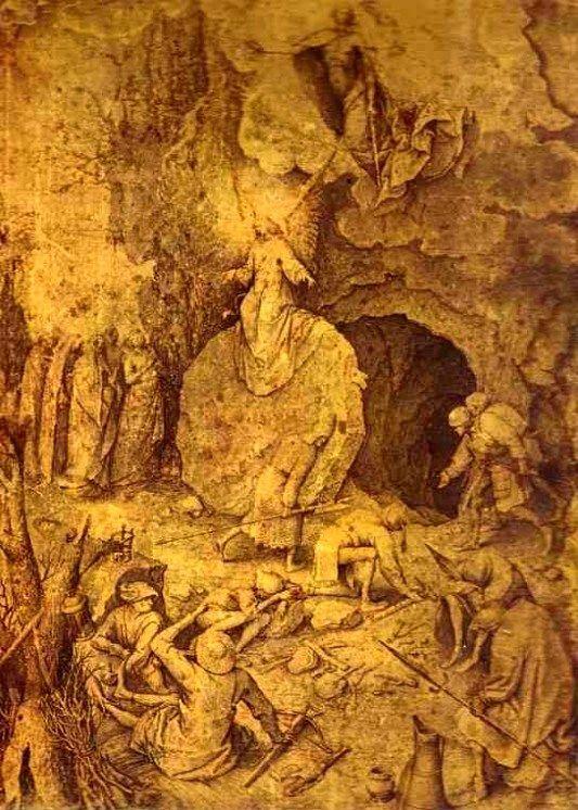 533x746 The Resurrection (A Drawing By Pieter Bruegel The Elder, Undated