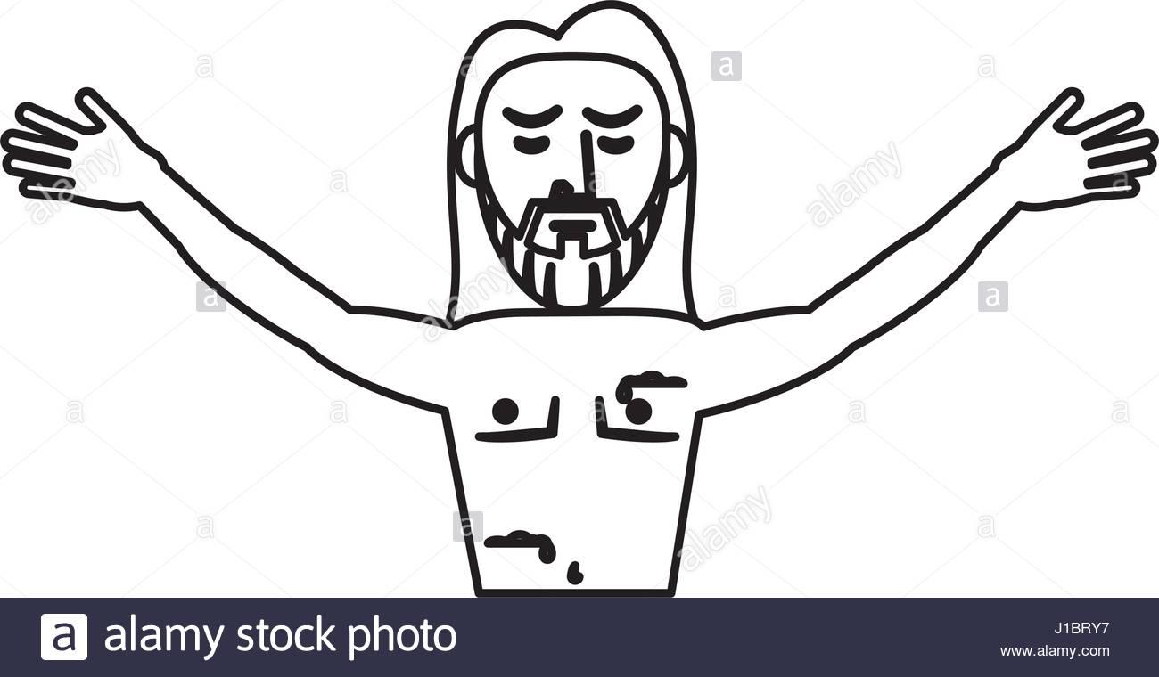 1300x760 Jesus Christ Resurrection Symbol Outline Stock Vector Art