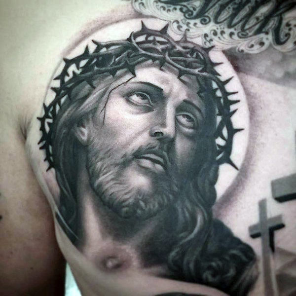 dc7115548 Jesus Tattoo Drawing at GetDrawings.com   Free for personal use ...